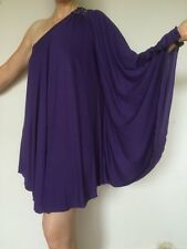 BNWT NEXT PURPLE ONE SHOULDER PARTY DRESS WITH SPARKLY DETAIL SIZE 10 RETAIL £40