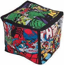 Marvel Avengers Bean Cube - Hero Bean Bag Filled Chair Seat Bedroom Play TV Room