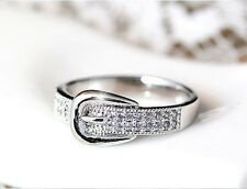 HORSE & WESTERN JEWELLERY JEWELRY LADIES WESTERN BELT BUCKLE RING SILVER 7.5/O