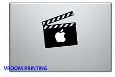 Movie clapper board vinyl decal sticker for Apple MacBook Pro Air Mac
