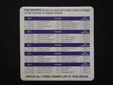 FOX SPORTS HYUNDAI A-LEAGUE FOOTBALL FIXTURE COASTER