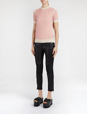Joseph Donna Rosa Basic Colorblock Cashmere Tee Top SWEATER TAGLIA M MEDIUM