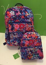 NWT Vera Bradley Large Campus Backpack With Lunch Box Bunch Impressionista