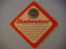 1999 Beer Bar Coaster    Anheuser-Busch Budweiser ~ Born on Date; King of Beers!