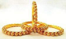 Indian Bangles Jewellery Royal Set Brass Gold Plated Set of 4 size 2.8.