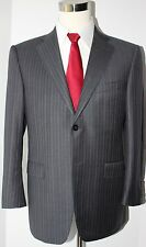 Ermenegildo Zegna Trofeo Gray Two Button Side Vented Wool Suit Size 40 S 33 29