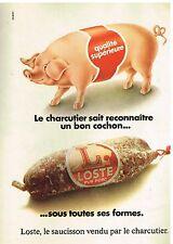 Publicité Advertising 1975 Le Saucisson Loste