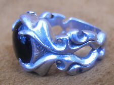 2003 SAT. STERLING SILVER 925 STERLING RING WITH ONYX?