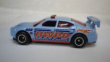 Hot Wheels Police Department Blue Dodge Charger Custom Real Riders