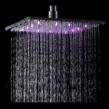 "12"" LED Chrome Brass Square Rain Shower Head Wall / Ceiling Mount Shower Head"