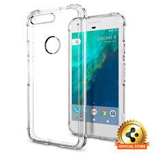 Spigen® [Crystal Shell] Google Pixel Case Clear Back Shockproof Bumper Cover