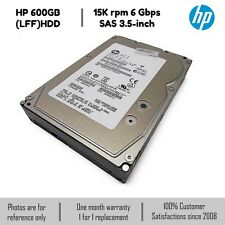 HP 600GB 3.5-inch (LFF) Serial Attached SCSI (SAS) 6G 15K Hot-Plug Hard Drive