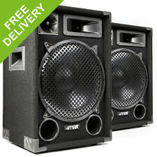 "1200W Max MAX12 12"" Inch Speakers - Home Audio Stereo Hi-Fi DJ Disco Party"