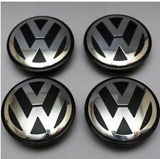 NEW 4X VW VOLKSWAGEN OEM  CENTER WHEEL CAP CAPS 65MM GOLF GTI JETTA CC PASSAT
