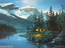 Fred BUCHWITZ Rocky Mountain Hideaway LTD art Giclee Canvas MINT stretched offer