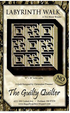 IN STOCK!~Labyrinth Walk~4 Contrasting Fabrics~No Y seam~3d Effect Quilt Pattern