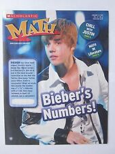 Justin Bieber on Cover of Scholastic Math Magazine Jan 2011 Mt Condi Rare