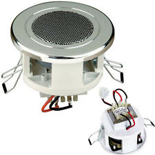 "2.5"" COMPACT/SMALL 6W 100V LINE CEILING/WALL SPEAKER CHROME - BACKGROUND/PA"