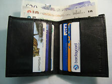 Soft Leather Slim Credit Card Holder with Space for Paper Money Space Bifold