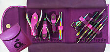 Manicure Pedicure Titanium Multi Color Finish Tools Kit Nipper Pusher Tweezers