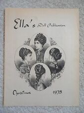 ELLA'S DOLL PUBLICATION~Christmas 1978~Miniatures~Crochet~KEN~HARPERS BAZAR 1894