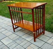VTG MID CENTURY Bamboo WOOD SIDE ACCENT END Table Coastal Tropical TIKI Rattan