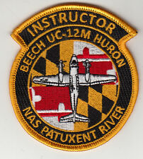 NAS PATUXENT RIVER BEECH UC-12M HURON INSTRUCTOR SHOULDER PATCH