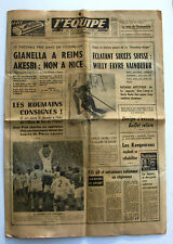 Journal l'Equipe n°5504 - 1963 - Ski Willy Favre - Foot Gianella Akesbi - Caron