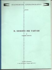 RARO CINEMA Il deserto dei tartari di V.Zurlini -Cartella informativa I.N.C.