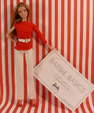 Authentic BARBIE BASICS RED Outfit for Model #1 Pant-Top-belt-Shoes NO DOLL