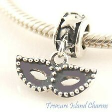 CARNIVAL MASK .925 Sterling Silver EUROPEAN EURO Dangle Bead Charm