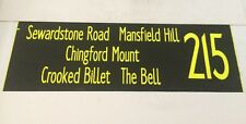 """Bus Blind 2307 42""""- 215 Sewardstone Mansfield Hill The Bell Chingford Mount Bill"""