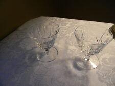 PAIR: EDINBURGH crystal OLIVE & CROSS edi9 pattern LOW SHERBET GLASSES