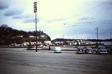 OSLO NORWAY HARBOUR NEXT TO CITY HALL OLD CARS   MAY 1957  35mm Slide RED BORDER