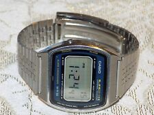 Men's Retro Vintage CASIO  Digital UC 50W Stainless Steel Bracelet Quartz Watch