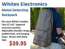 Whites Metal Detector Backpack-Great For Hunting Remote Sites-Carry Everything