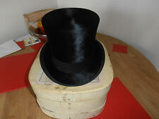 Vintage  Extra Quality Black Silk Top Hat size 7 1/4  by A J White Ltd
