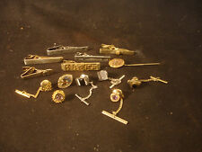 Swank Anson Gold Silver Tone Decorative Tie Clips Pin Tacks Cufflink Jewelry LOT