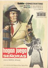 Programa de CINE. Título película: HAGAN JUEGO SEÑORAS.