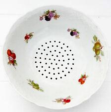 Vintage Schumann Arzberg Fruits Porcelain Colander Fruit Strainer Bowl