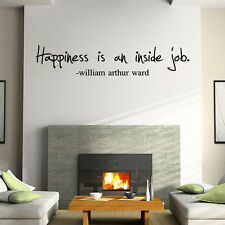 """Happniess"" Removable Wall Stickers Quote Wall Vinyl Decal Art Mural Home Decor"