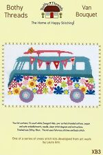 BOTHY THREADS VW CAMPER VAN BOUQUET WITH FLOWERS & BUNTING CROSS STITCH KIT