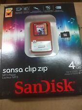SanDisk Sansa Clip Zip Orange (4 GB) Digital Media Player