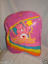 "NEW WITH TAG CARE BEARS 2004 SUPER STAR BACKPACK  11'X13"" PINK"