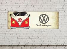 VW CAMPER logo sign for workshop, garage, office or showroom pvc banner