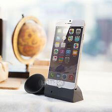 "Silicone Horn Stand Amplifier Speaker For Apple iPhone 6 4.7""Black"