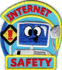 """INTERNET SAFETY "" - Iron On Embroidered Patch - ON LINE - THE WEB - GAMES"
