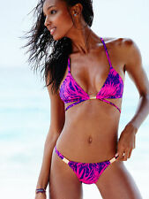 Size S VICTORIA'S SECRET Swim Double-strap Triangle Top & Banded Cheeky Palm