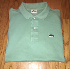 Lacoste Short Sleeve Polo Classic Soft Green Size 4 Small