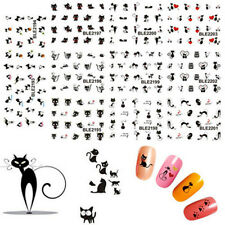 Nail Art Decals Nail Wraps Water Transfers Funny Cute Pets Cat DIY Stickers